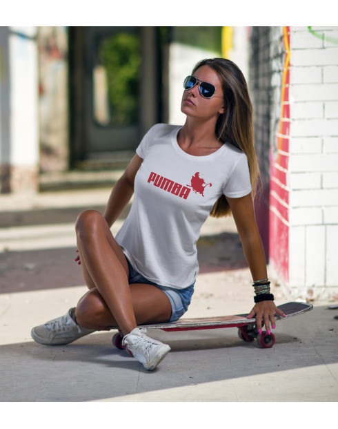 Dámské tričko s potiskem Pumba