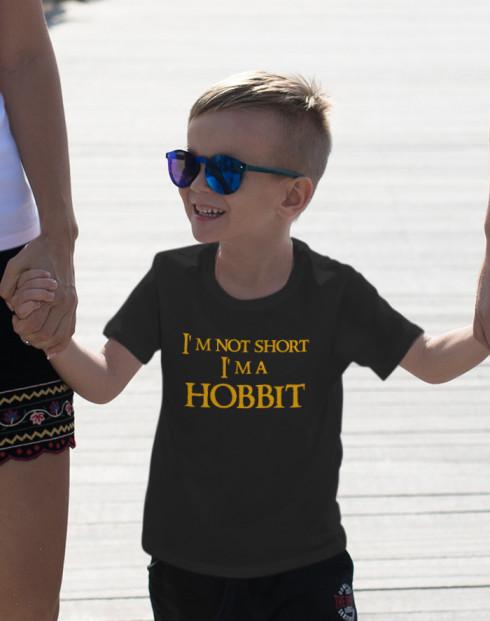 """Dětské tričko """"I am not short I am Hobbit"""""""
