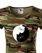 Dámské tričko kočičí Jing Jang