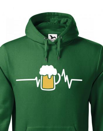 Pánská mikina s potiskem pivo