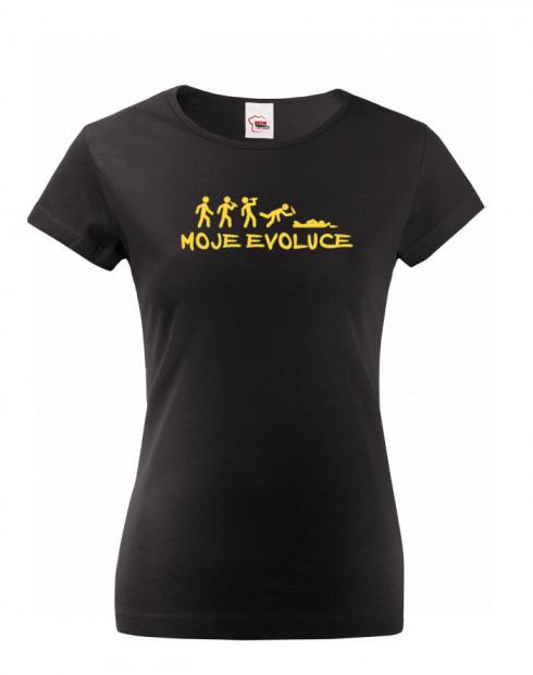 Dámské tričko nejen na pivo Moje evoluce