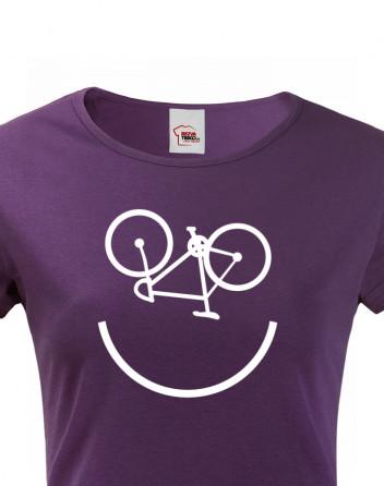 Dámské tričko pro cyklisty cyklo úsměv