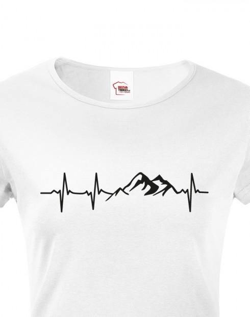 Dámské turistické tričko Tep hory