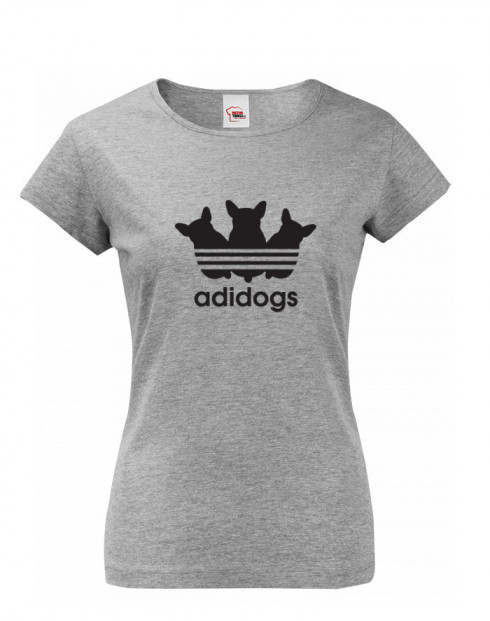 Dámské tričko s vtipným potiskem Adidogs