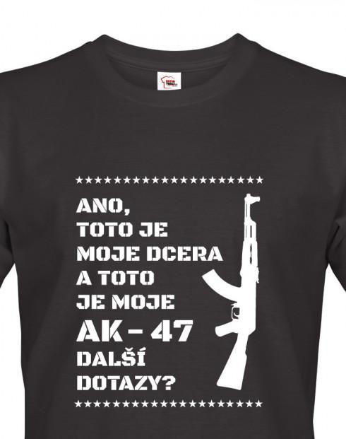 Vtipné tričko pro tatínky Dcera a AK-47