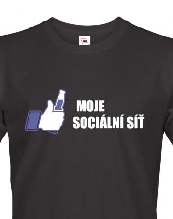 Pánské tričko s potiskem Moje sociální síť