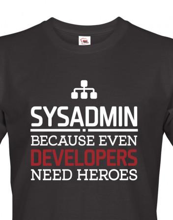 Pánské tričko pro administrátory, správce sítě