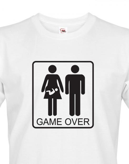 Tričko pro budoucí tatínky Game over
