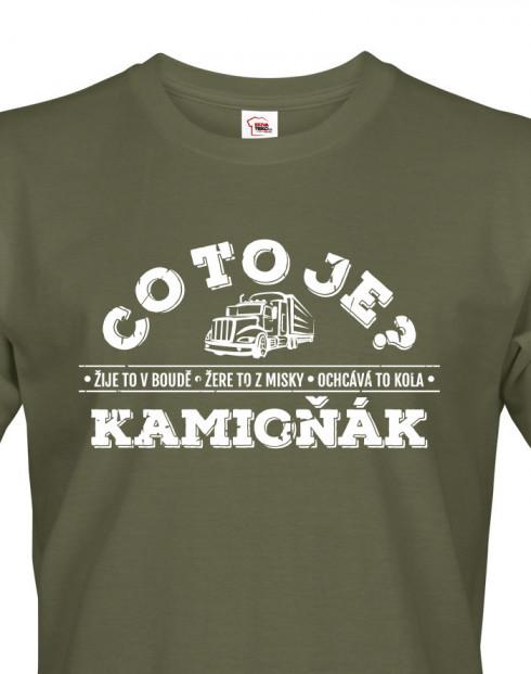 Pánské tričko pro řidiče kamionu - kamioňáky