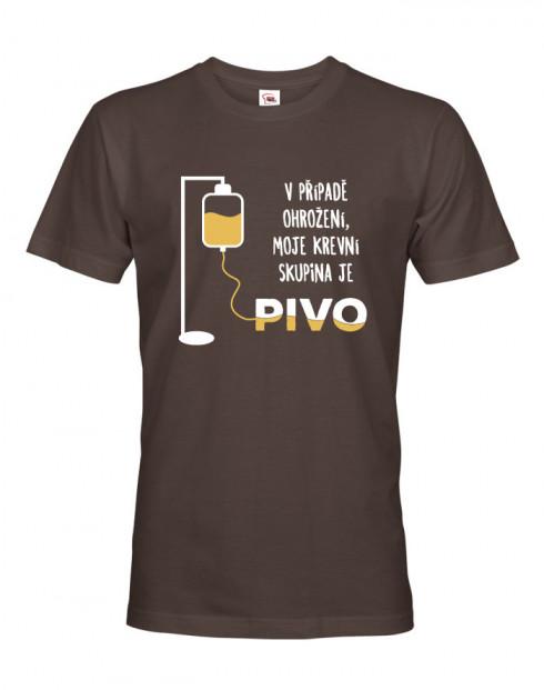 Tričko s pivním motivem Krevní skupina je pivo