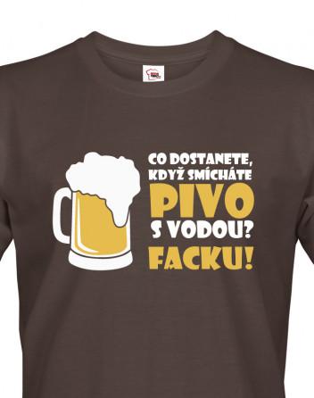 Pánské tričko s pivním motivem Co dostaneme...