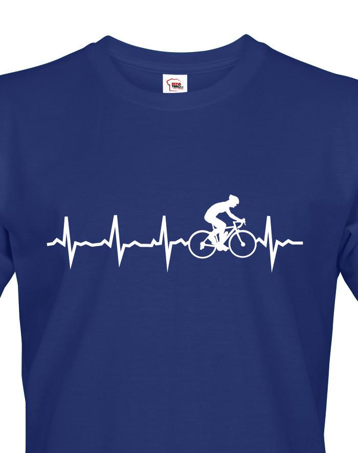 Pánské tričko tep cyklisty