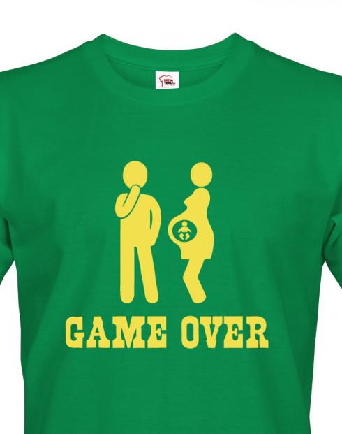 Vtipné tričko pro tatínky Game over 2