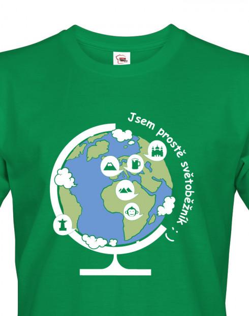 Pánské cestovatelské tričko Jsem prostě světoběžník