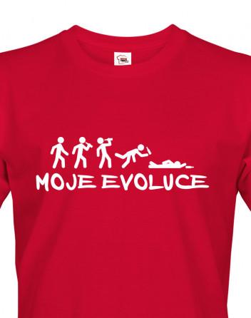 Pánské tričko nejen na pivo Moje evoluce