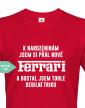 Pánské tričko k narozeninám jsem si přál