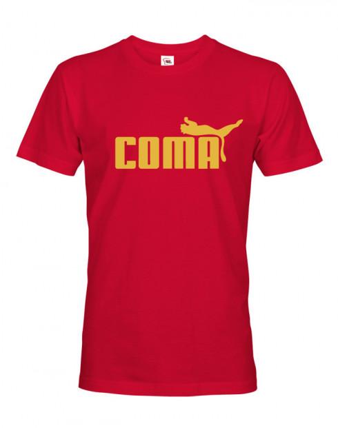 Pánské tričko s vtipným potiskem Coma