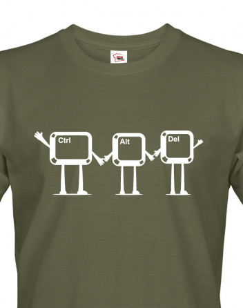 Pánské tričko ctrl+alt+del