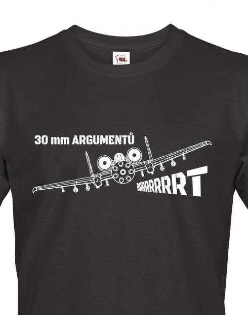 Pánské tričko A-10 30 mm argumentů