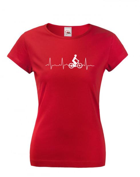 Dámske tričko tep cyklisty