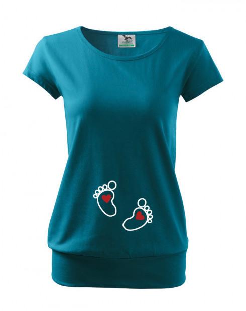 Tričko s potiskem pro budoucí maminky nožičky