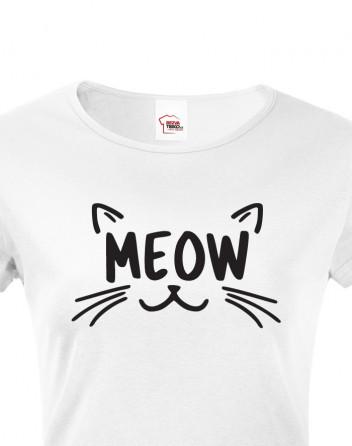 Dámské tričko s kočkou Meow