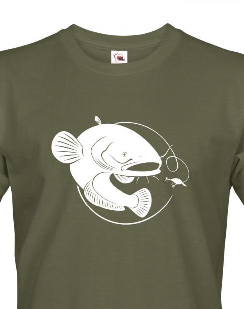 Tričko pro rybáře s motivem sumce