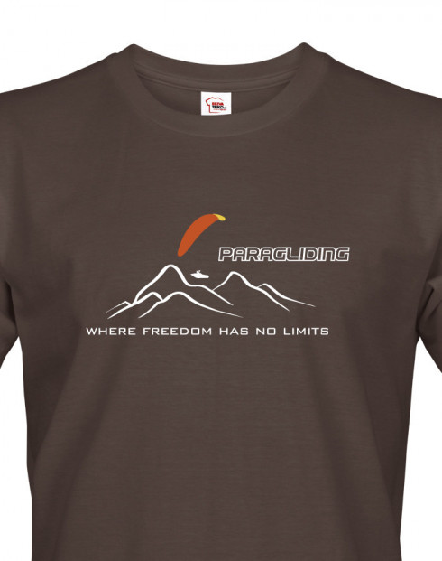 Pánské tričko Paragliding - Where freedom has no limits