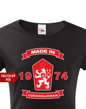 Dámské tričko se lvem a znakem ČSSR