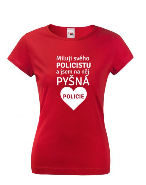 Dámské tričko Miluji svého policistu