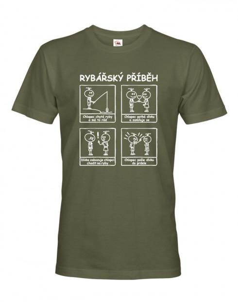 Pánské tričko s potiskem Rybářský příběh