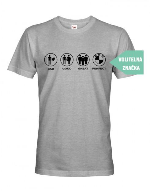 Pánské tričko se značkou auta na přání - BMW