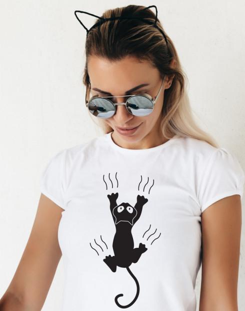 Dámské tričko s kočkou s drápky