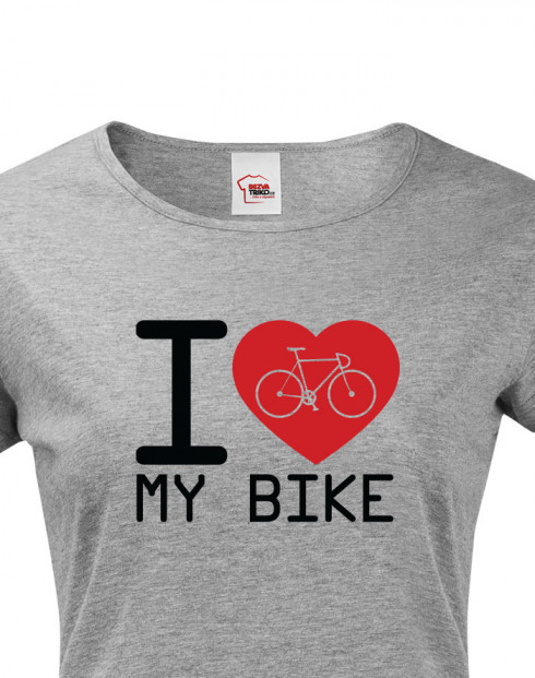 Dámské tričko pro cyklisty I love my bike