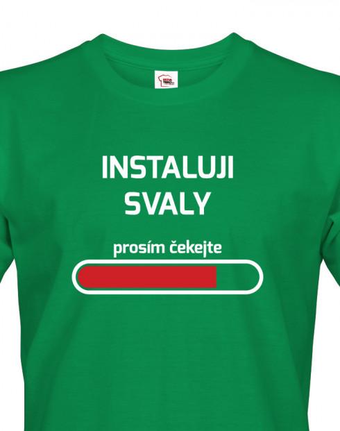 Pánské fitness tričko Instaluji svaly