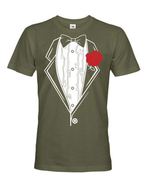Pánské triko na rozlučkovou párty - frak 2