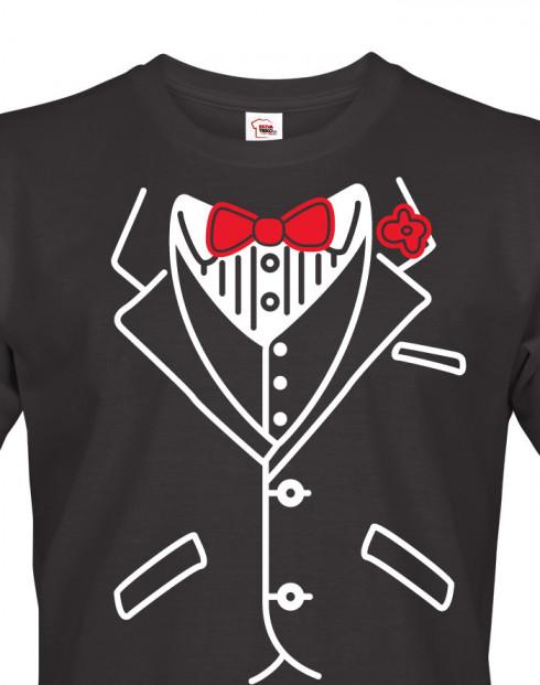 Pánské triko na rozlučkovou párty - frak