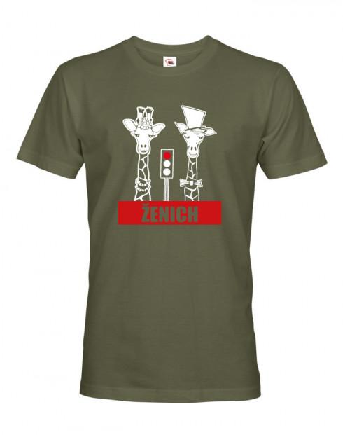 Pánské tričko pro ženicha Žirafy