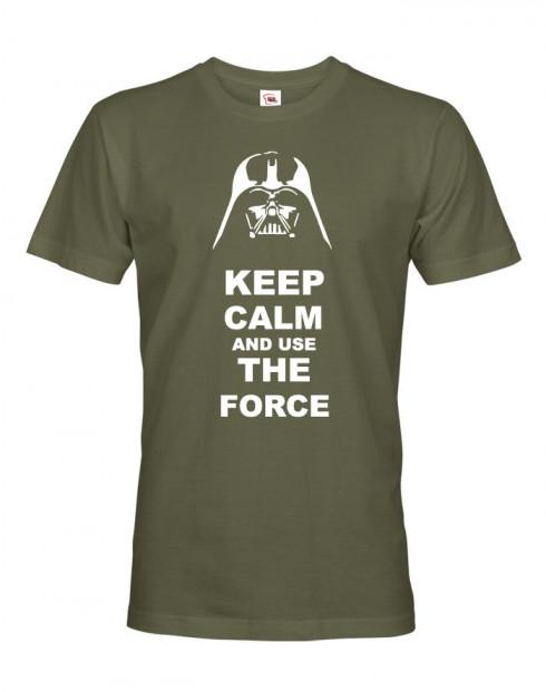 Pánské tričko Keep calm and use the force