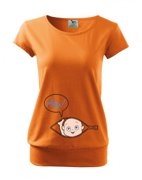 Těhotenské tričko Kuk z bříška