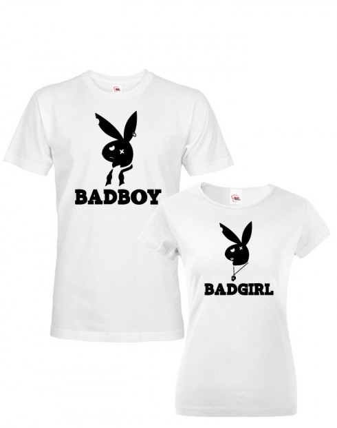 Párová trička Bad Boy, Bad Girl