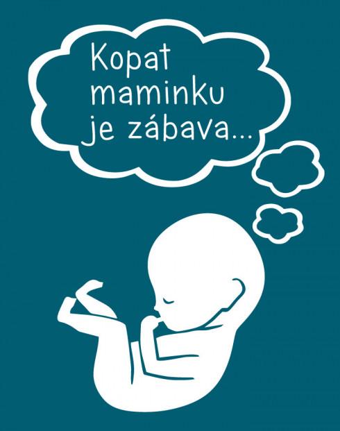 Tričko pro těhotné Kopat maminku je zábava