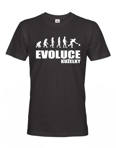 Pánské tričko pro kuželkáře evoluce Kuželky