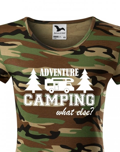 Dámské tričko s karavanem - Adventure Camping