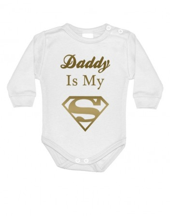 Body s potiskem Daddy is my Superhero