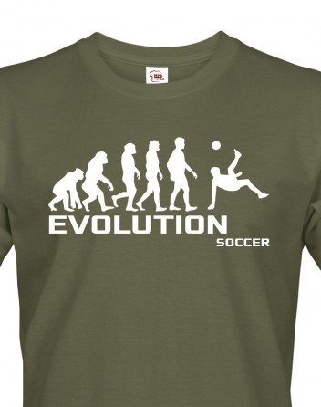 Pánské tričko evoluce fotbalu