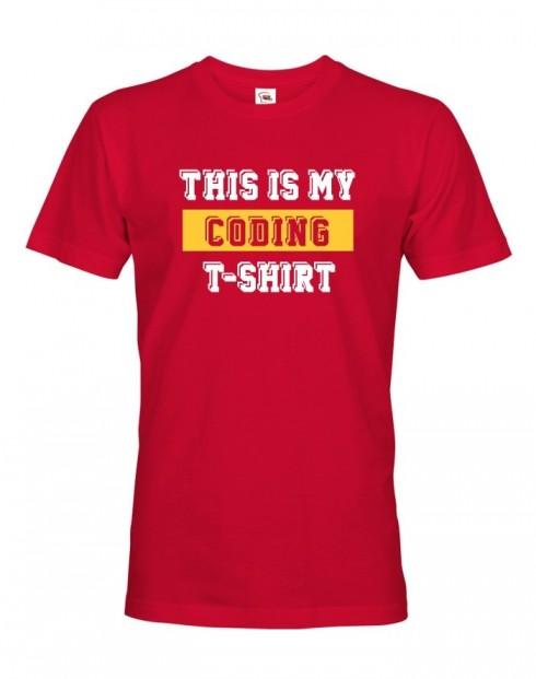 Pánské tričko This is my Coding Tshirt