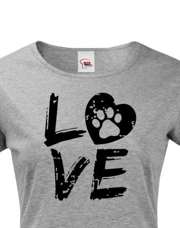 Dámské tričko Dog Love