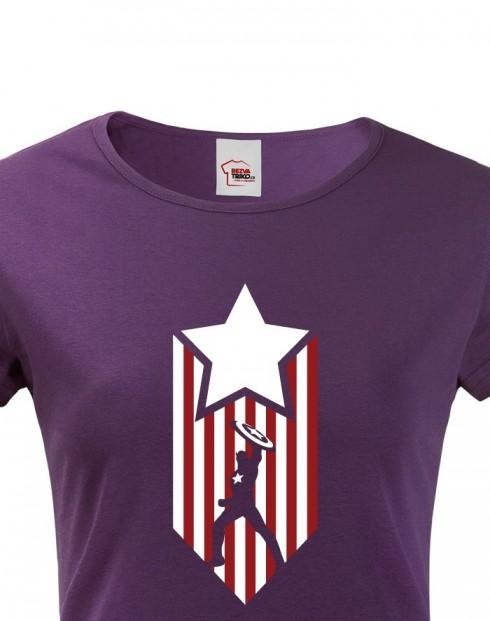 Dámské tričko Kapitán Amerika