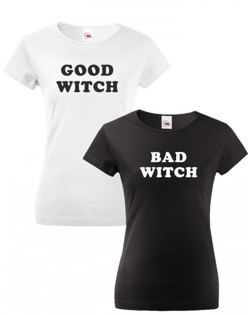 Dámská BFF trička Bad Witch a Good Witch